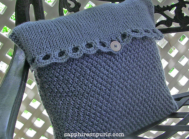 Country Cottage Pillow Free Knitting Pattern and more free pillow knitting patterns
