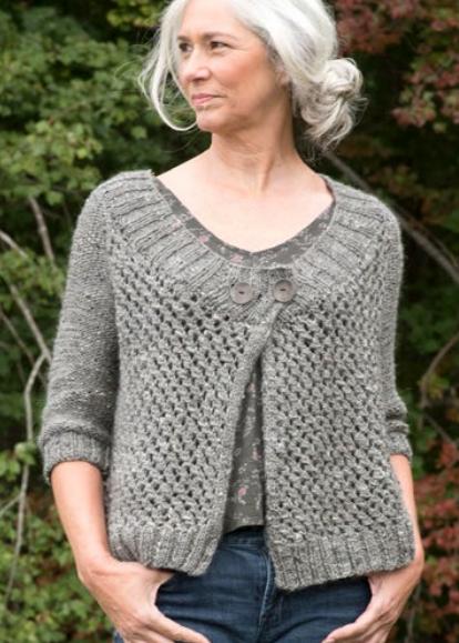 Free Knitting Pattern for Battine Cardigan