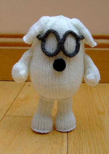 Free knitting pattern for Dogbert dog from Dilbert