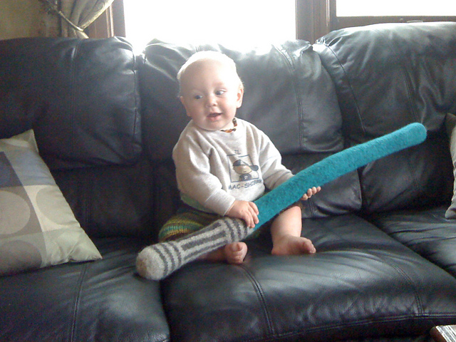 Free knitting pattern for Felted Light Saber and more Star Wars Knitting Patterns