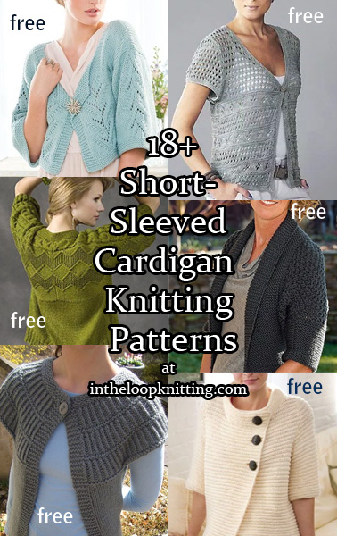 6dc3e9e135fa3d Short Sleeve Cardigan Knitting Patterns - In the Loop Knitting
