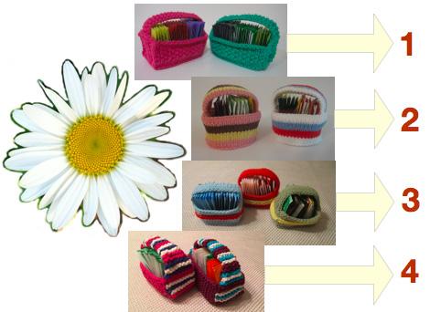 Tea Bag Baskets Free Knitting Patterns and more tea time knitting patterns