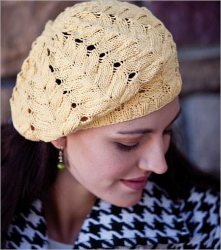 Rose Window Beret slouchy hat knitting pattern