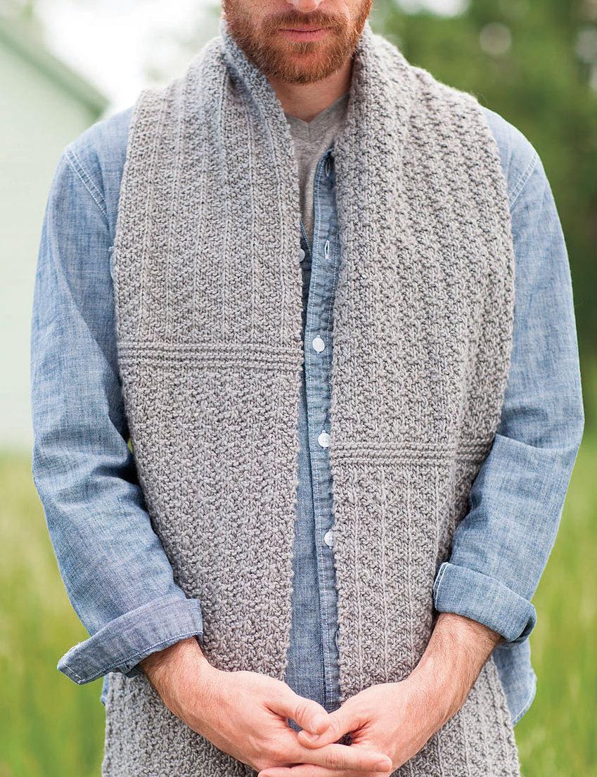 Knitting Pattern for Caldicott Scarf