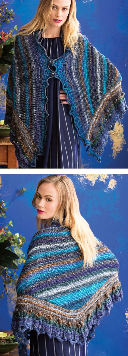 Cap Knitting Patterns : Colorful Shawl Knitting Patterns In the Loop Knitting