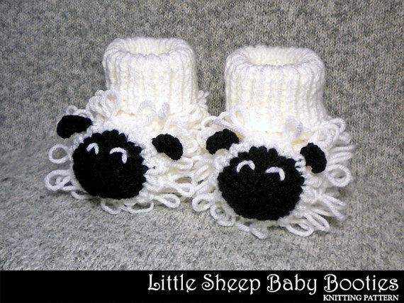 Sheep Booties knitting pattern