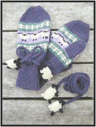 Sheep Mittens knitting pattern and more sheep and lamb knitting patterns