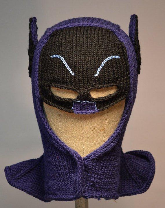 Batman Cowl Knitting Pattern and more fun knitting patterns