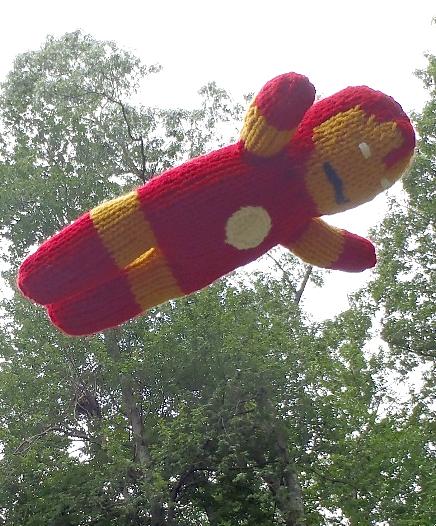 Free Knitting Pattern for Iron Man Toy