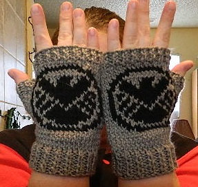 Knitting Pattern for Shield Fingerless MItts