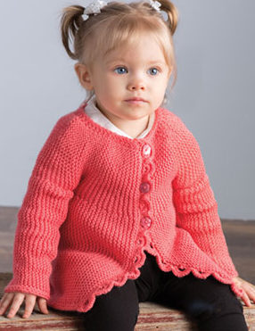 Knitting Pattern for Sideways Baby Cardi