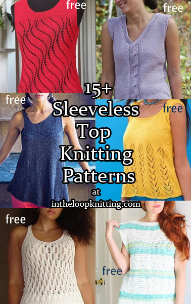 Sleeveless Tops Knitting Patterns