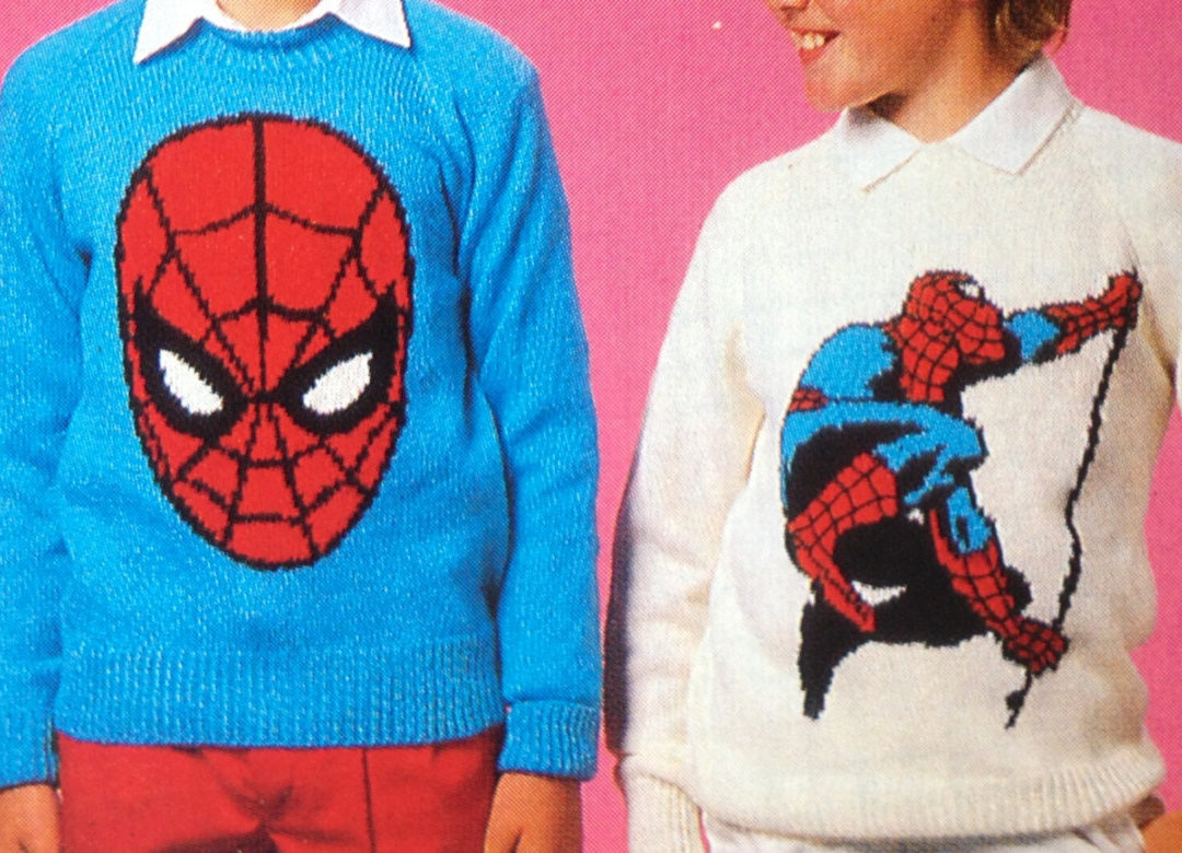 Knitting Pattern for Spiderman Sweaters