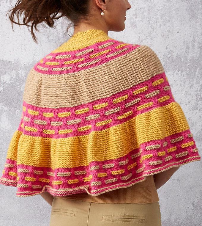 Free Knitting Pattern for Spring Ribbons Shawl