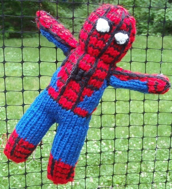 Free Knitting Pattern for Spiderman Toy