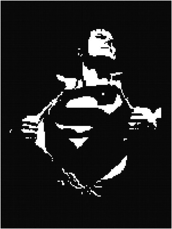 Knitting and crochet pattern for Superman blanket