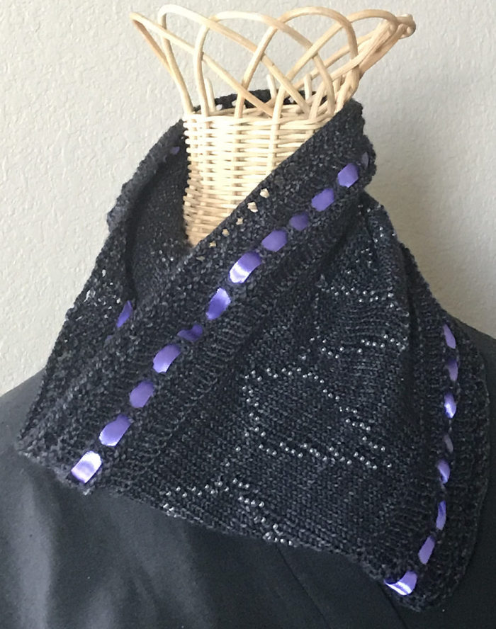Free Knitting Pattern for Wakanda Forever Cowl