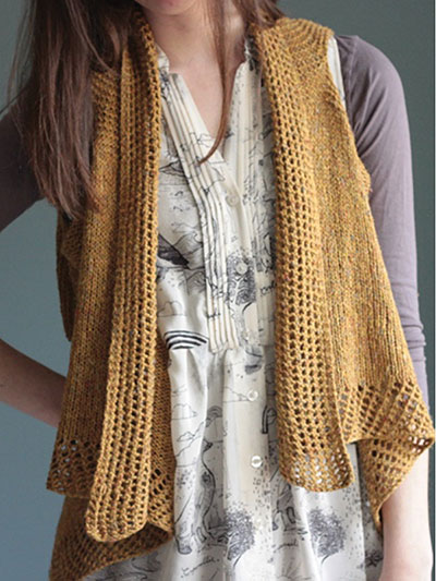 Knitting Pattern For Lace Vest : Vest Knitting Patterns In the Loop Knitting