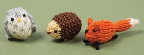 Knitting kit for Woodland Amigurumi Animals owl hedgehod fox