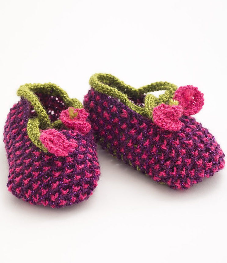 Free Knitting Pattern for Blossom Booties