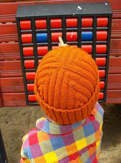Free knitting pattern for Reversible Rib Cap hat
