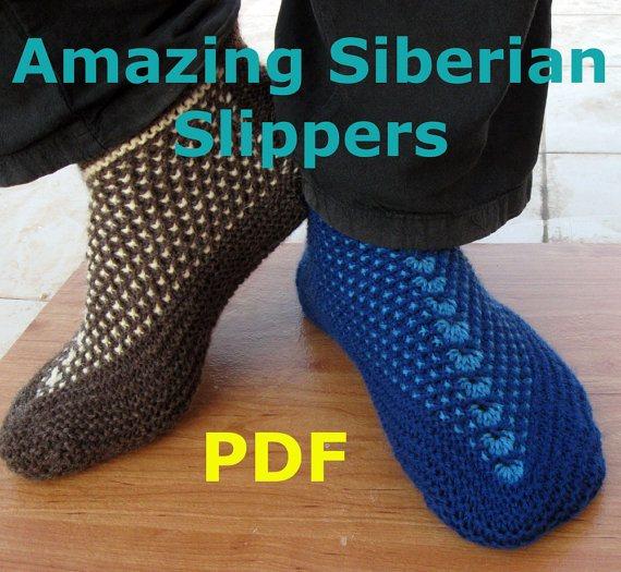 Amazing Siberian Slippers Knitting Pattern
