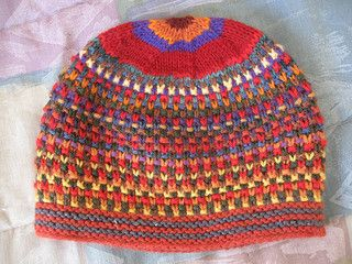 Free knitting pattern for Slip Stitch Stash Hat stashbuster beanie and more beanie knitting patterns