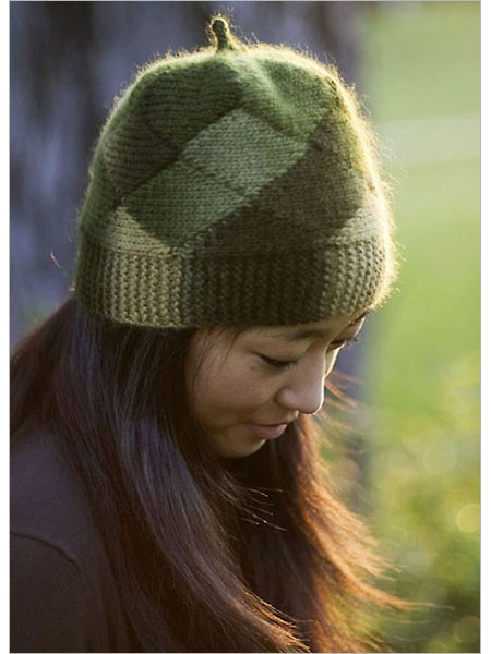 Free knitting pattern for Short Row Hat and more beanie knitting patterns