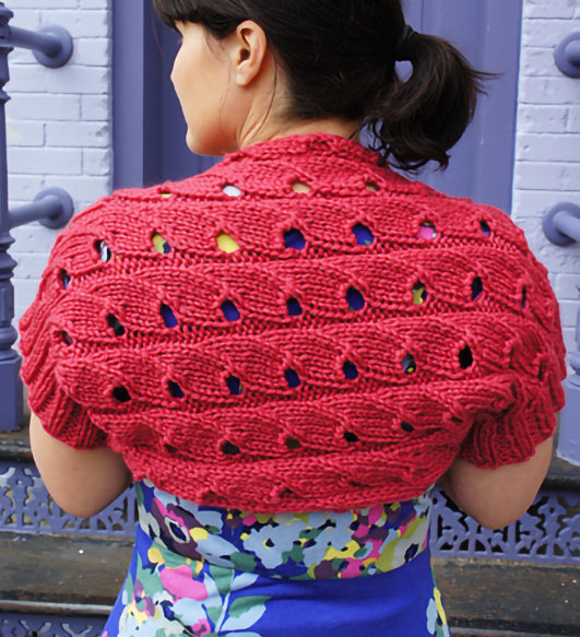 Free Knitting Pattern for Easy Chickadee Shrug