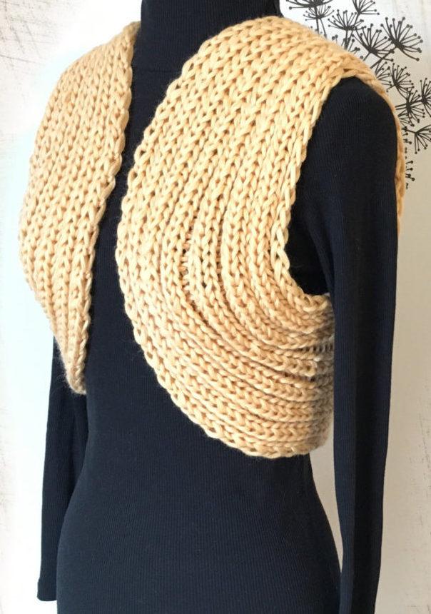 Knitting Pattern for Easy Circle Bolero