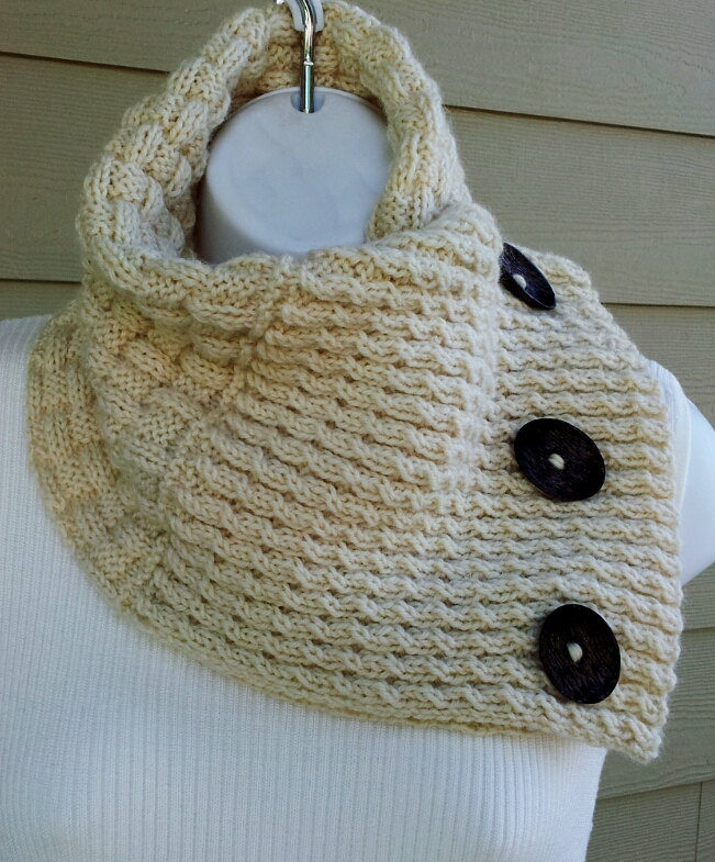 Knitting Pattern for Two Texture Neckwarmer