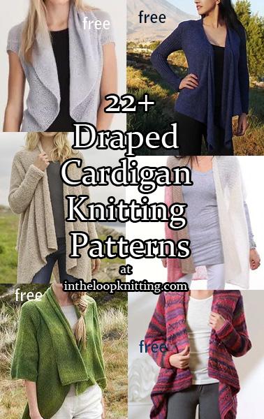 Draped Cardigan Knitting Patterns