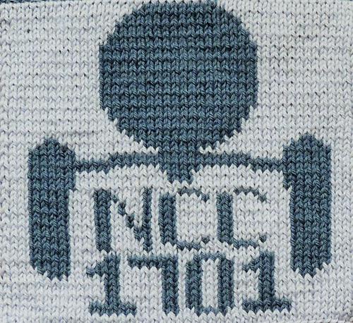 Free knitting chart for the Enterprise