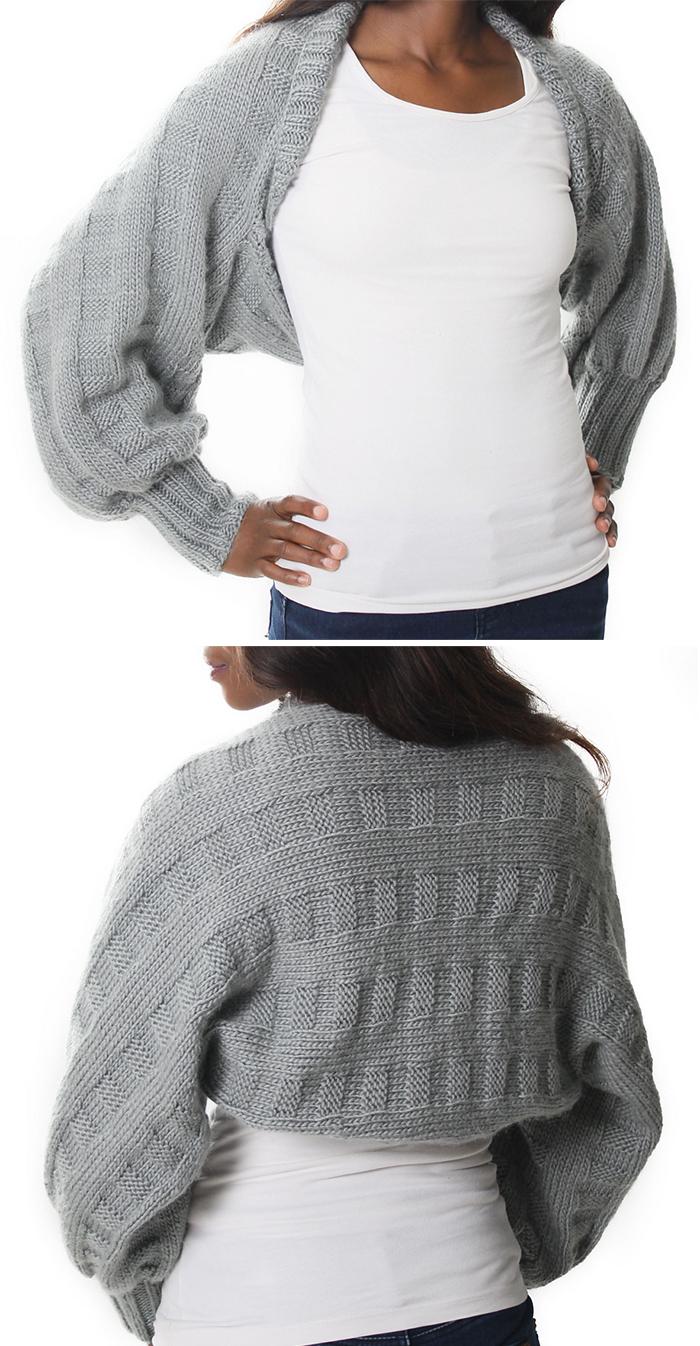 Knitting Pattern for Easy Honor Shrug