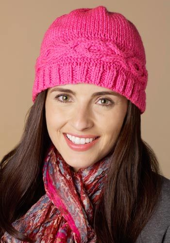 Free knitting pattern for Hugs and Kisses hat and more beanie knitting patterns