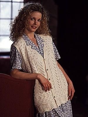 Free knitting pattern for Lace Sampler Vest and more stitch sampler knitting patterns