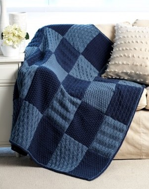 Free knitting pattern for Checkerboard Sampler Blanket with