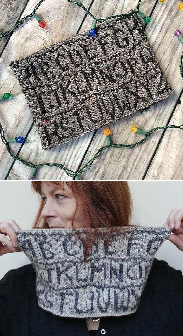 Knitting Pattern for Stranger Things Cowl