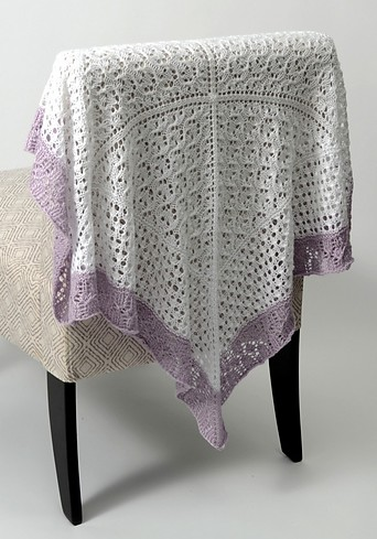 Free knitting pattern for Lace Sampler Baby Blanket and more baby blanket knitting patterns