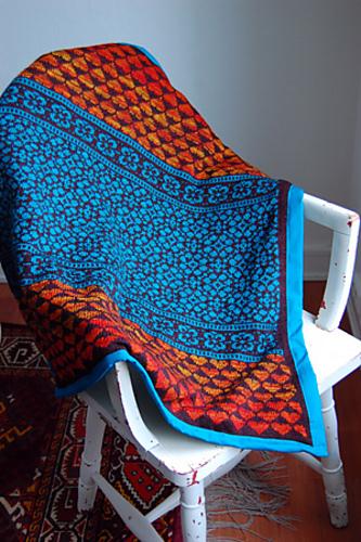 Free knitting pattern for Latvian Garden Baby Blanket