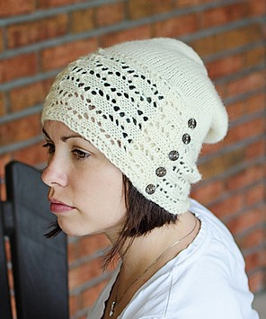 Knitting Pattern for Peach Street Slouchy Beanie Hat