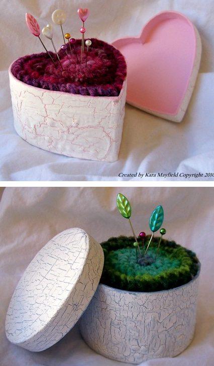 Knitting pattern for Shabby Chic Pin Cushion