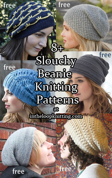 Knitting Pattern for cable and lace slouchy beanie hat