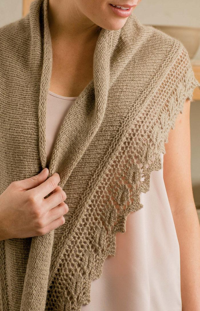 Knitting Pattern for Beech Leaf Shawl