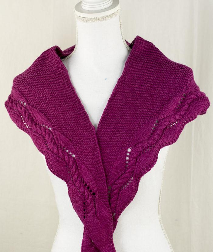 Free Knitting Pattern for Hampton Shawlette