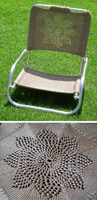 Knitting Pattern for Haleakala Chair Back