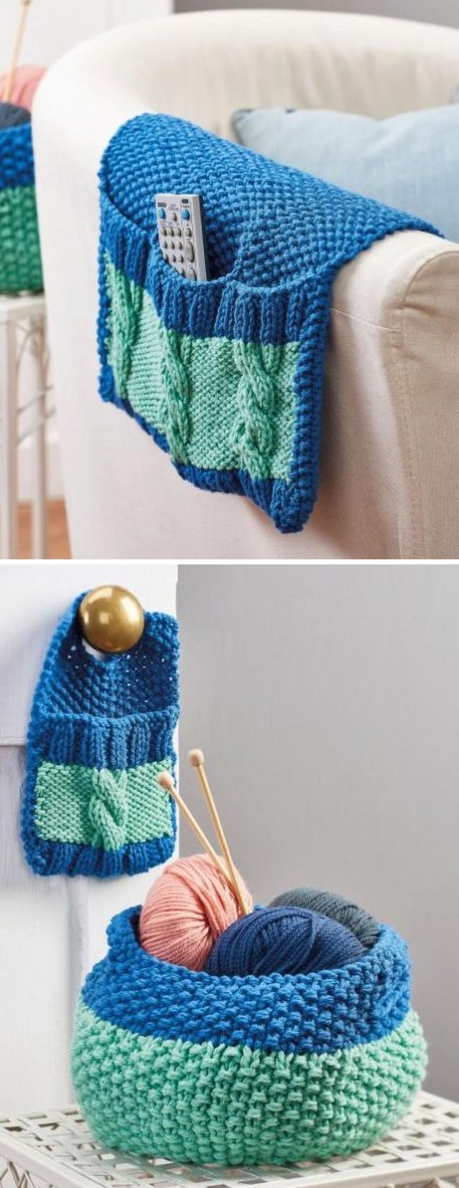 Free Knitting Pattern for Stash n Store Set