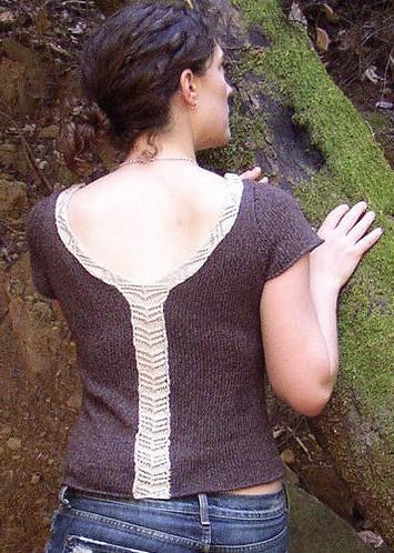 Free knitting pattern for Honorine Tee