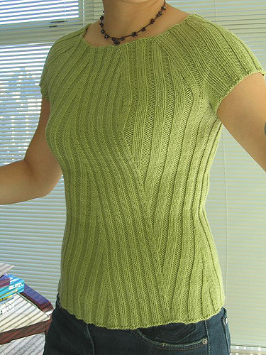Free knitting pattern for Katrina Rib tee top