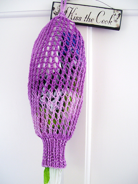 Free Knitting Pattern Grocery Bag Holder : Storage Knitting Patterns In the Loop Knitting